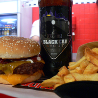 Black Cab Burger + Black Cab Stout