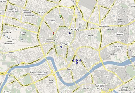 krakkó térkép Krakkó sörtérképe   Folyékony Kenyér krakkó térkép