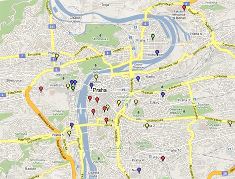 prága térkép Prágai sörtérképek   Folyékony Kenyér prága térkép