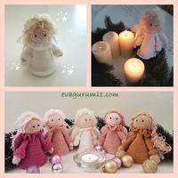 Horgolj velünk karácsonyra - angyalka