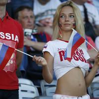 Az orosz szurkolólány talpai
