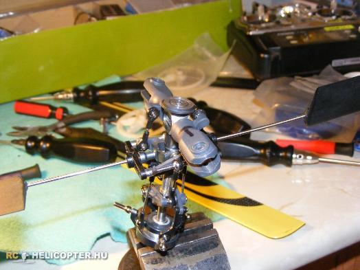 A rotorfej az átalakítás előtt