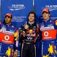 Vettel újabb pole-jával beállította Mansell rekordját Abu Dzabiban
