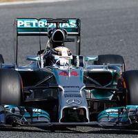 F1 Hamilton a 2. edzésen is elérhetetlen volt Barcelonában