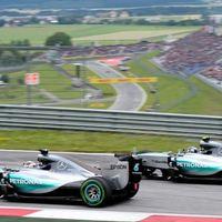 F1 Az Osztrák Nagydíj rajtrácsa a büntetéseket követően