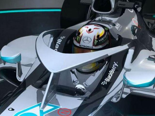 F1 A Mercedes ötlete a versenyzők fejének védelmére (Videó)
