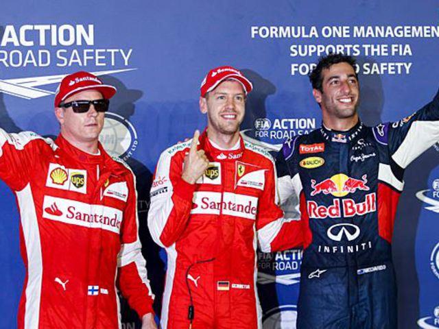 F1 Vettelé a pole Szingapúrban, a Red Bull is a Mercedes előtt