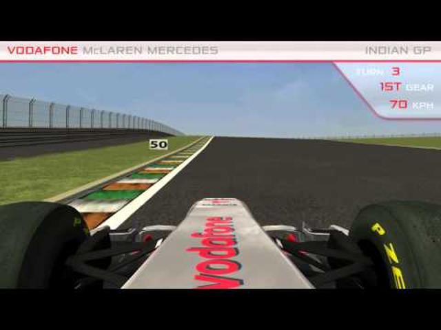 Indiai pályabejáró a McLaren és a Red Bull segítségével