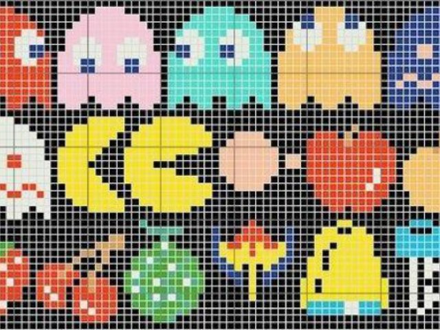 PACMAN figurák LEGO elemekből