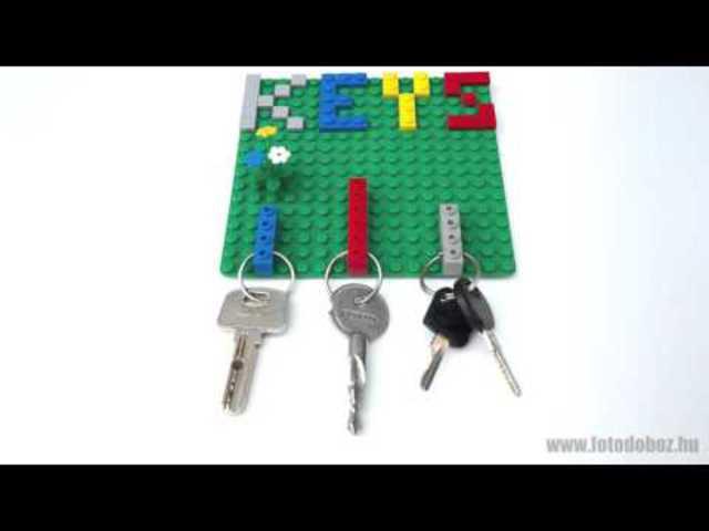 Ajándék ötlet - kulcstartó LEGO elemekből