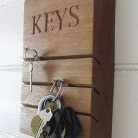 Fából készíthető egyszerű kulcstartó