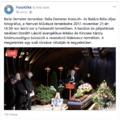 Élő közvetítés Balla Demeter fotográfus temetéséről