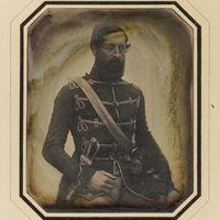 1848-as nemzetőr dagerrotípia a Nemzeti Múzeumban