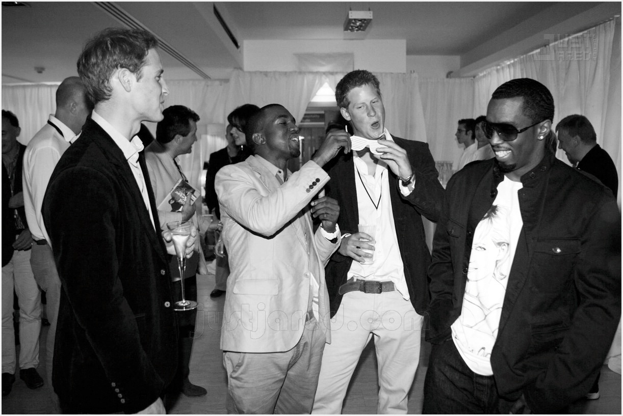 Prince William, Kanye West, Prince Harry and P.Diddy.jpg