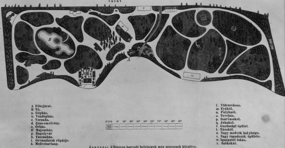 Az Állatkert térképe, 1866