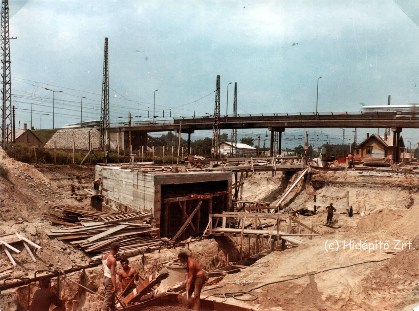 A Földalatti vonalának meghosszabbítása, 1972. (kép: Hídépítő Zrt.)
