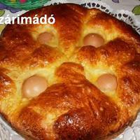 Tojással sült húsvéti kalács