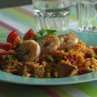 Rizseshús Paella stílusban