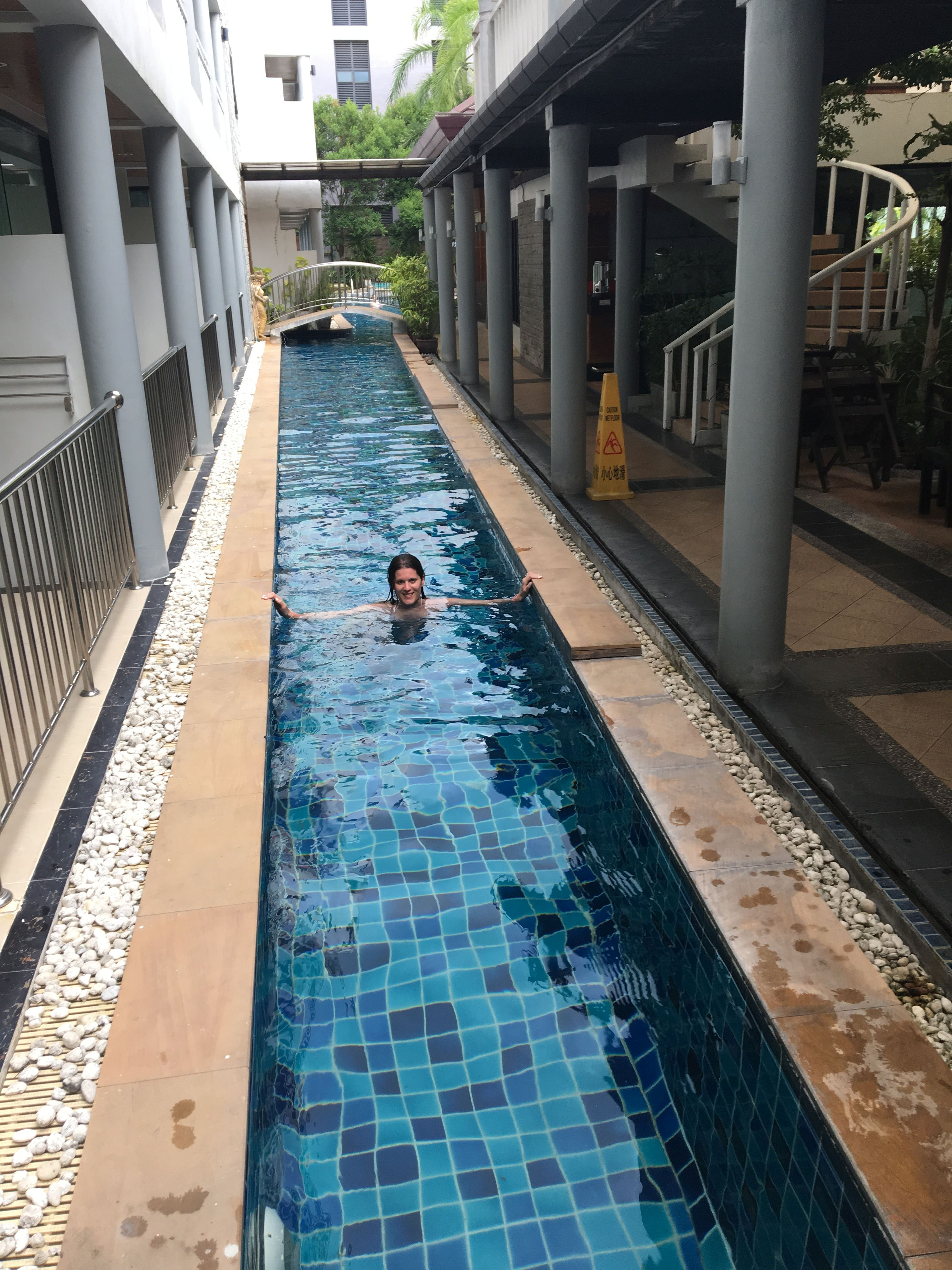 A második szállásunk, Karon beach közelében. Itt fizettünk a jobb, medencés szobáért, de megérte.