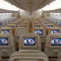 Nyomtatott kiegészítők repülőgépek utasterében