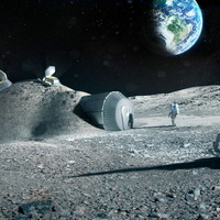 Nyomtatott házikó a Holdon