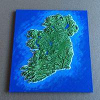 Nyomtatott Írország-térkép