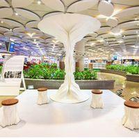 Mumbai nemzetközi repülőtéren látható India legnagyobb nyomtatott szobra