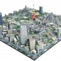 Nyomtatott diorámák japán városokról