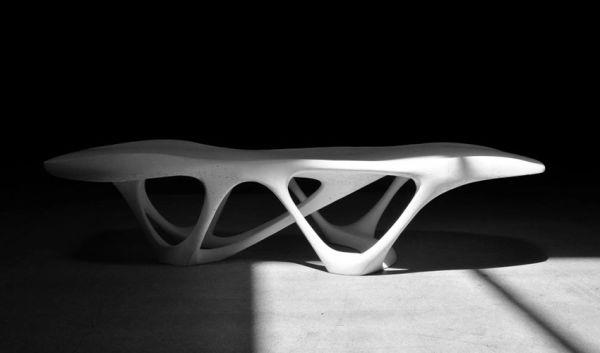 A betonasztal szépsége