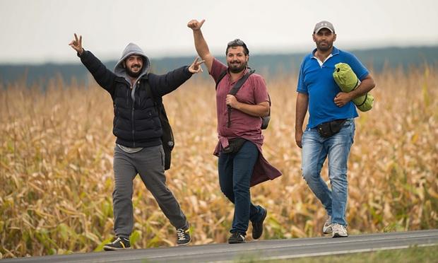 Menekültek a magyat-osztrák határon