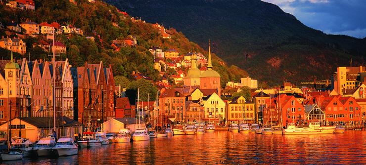 Bergen alkonyatban,
