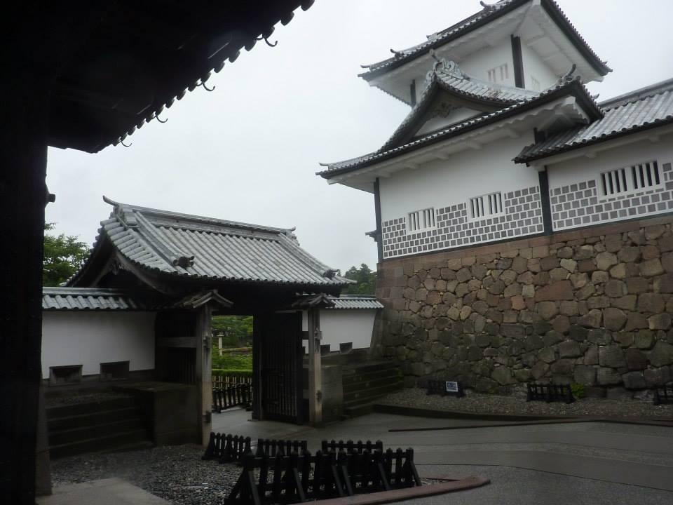 Kanazawa, Japan, egy regi eroditmeny.