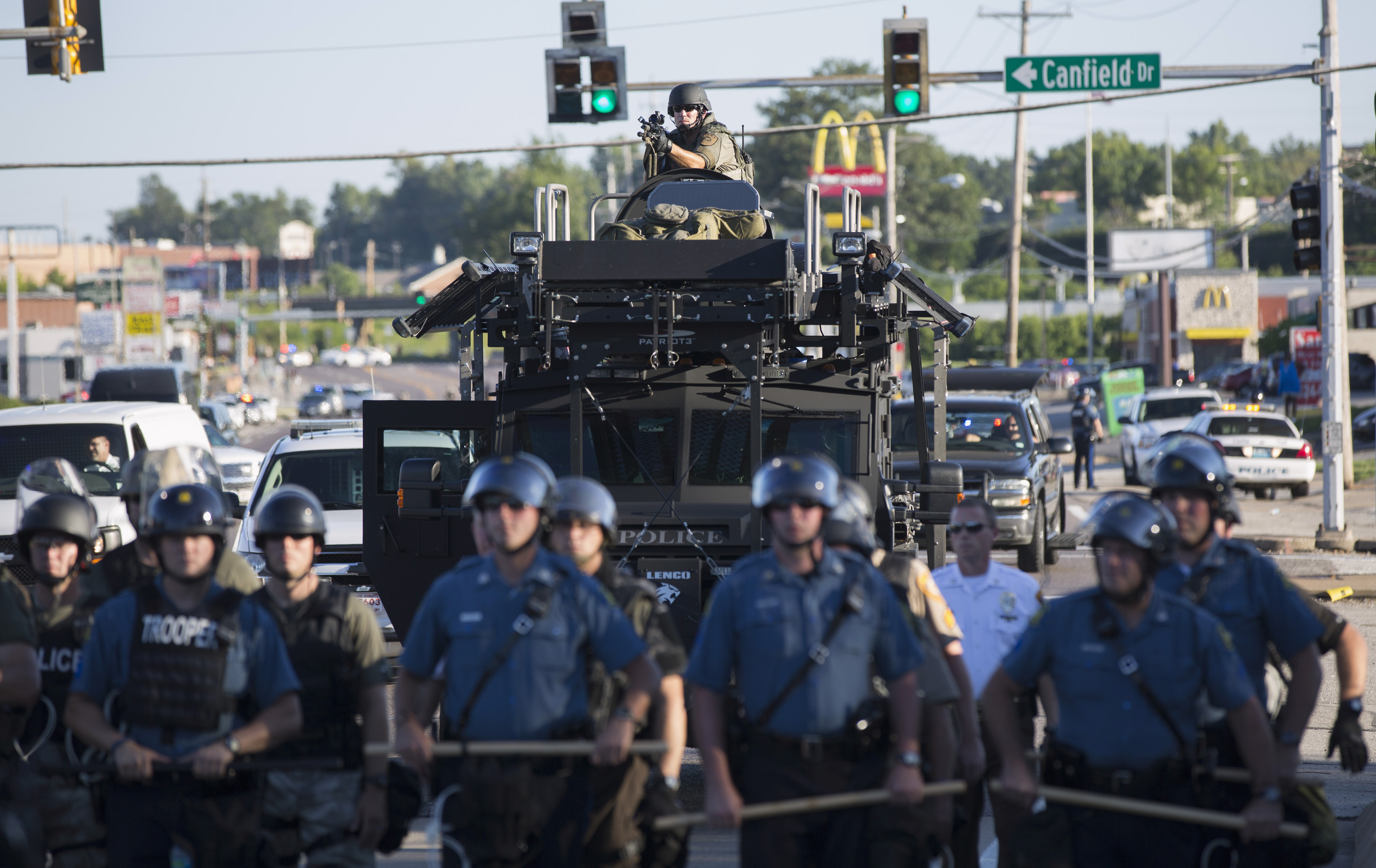 A riadó rendőrök