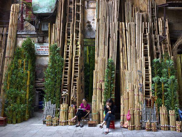 Hanoi, Bambusz árus