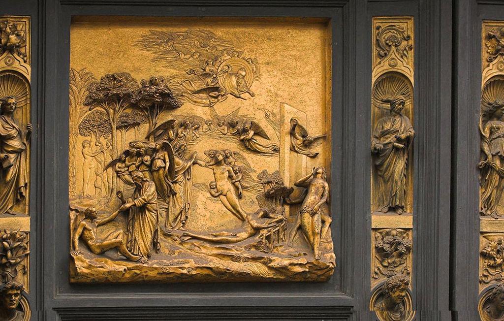 Ghiberi bronze ajtó, egy része