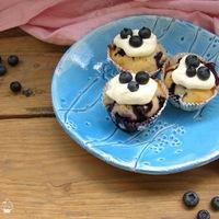 Áfonyás - diós muffin vaníliás öntettel