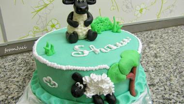Párizsi krémes Shaun a bárány torta