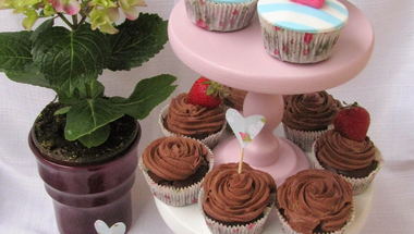 Anyák napi eszpresszós csokis cupcake