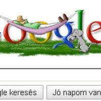 Függőágy a Google logón