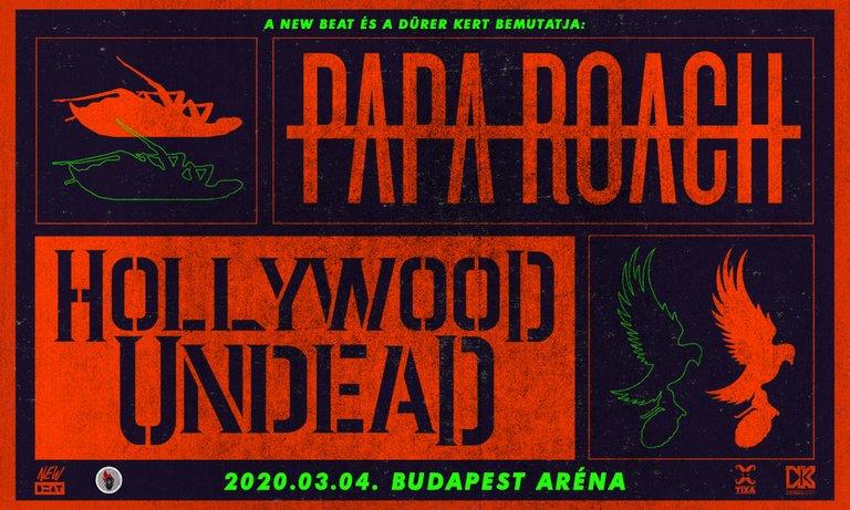 Hollywood Undead és Papa Roach az Arénában!