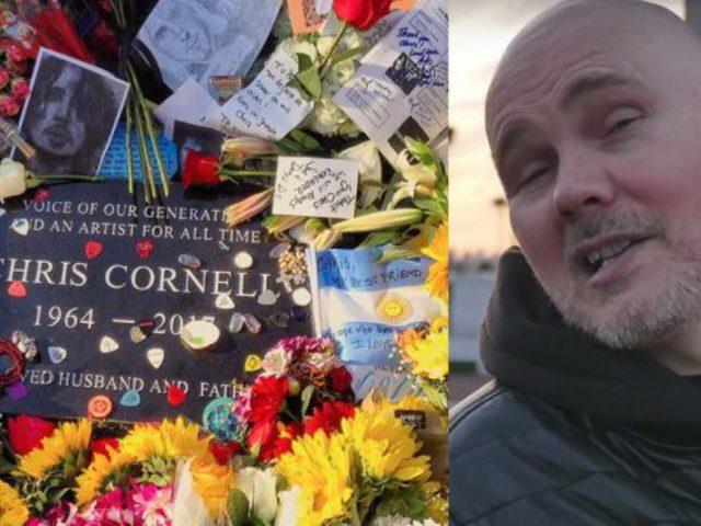 Rocksztárok sírjainál töltődik Billy Corgan