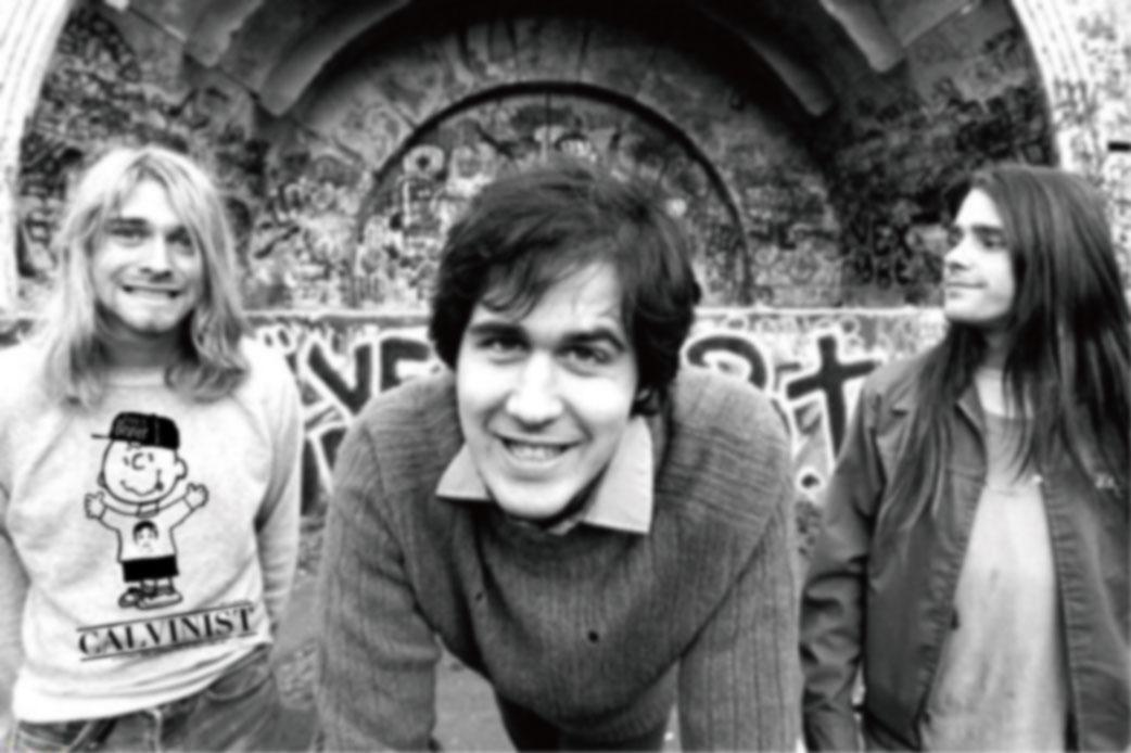 1990-ben még Chad Channing dobossal (jobb szélen) állt fel a Nirvana.