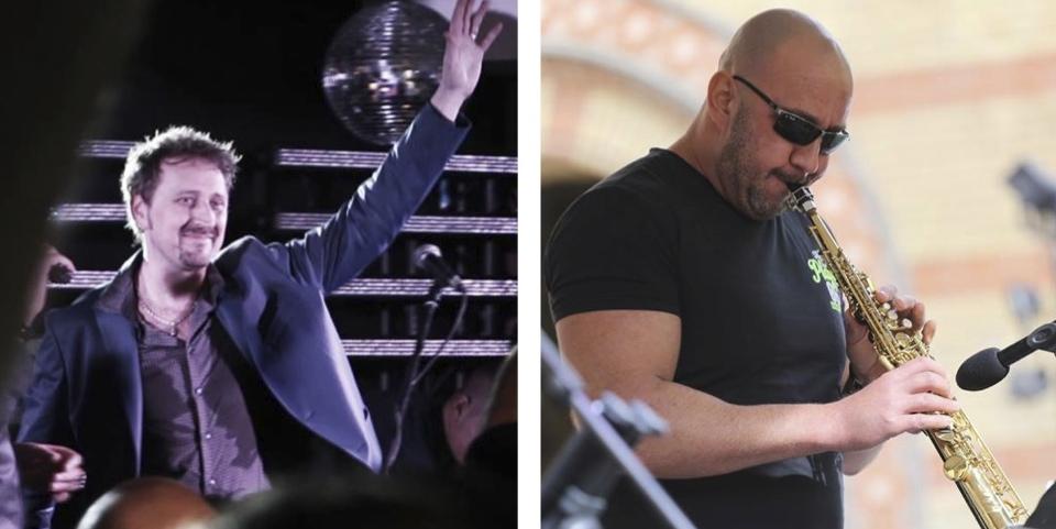 Csejtei Tamás és Csejtey Ákos<br />Tamás a Back II Black alapító basszusgitárosa, Ákos pedig ismert és foglalkoztatott jazz-szaxofonos.