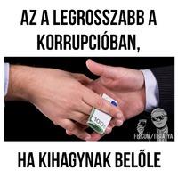 A legrosszabb a korrupcióban..