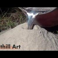 Ez történik ha forró alumíniumot öntesz egy hangyabolyba...