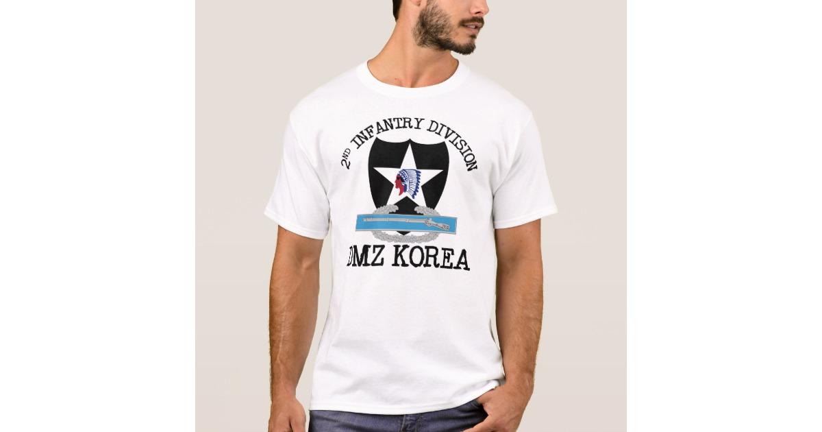 Az állandó jelleggel Dél-Koreában állomásozó 2. amerikai gyalogoshadosztálynak és a demilitarizált övezetnek emléket állító póló.