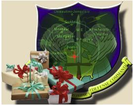 A NORAD Mikulás-vadász logója.