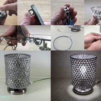 Asztali lámpa sörösdoboz izéjéből