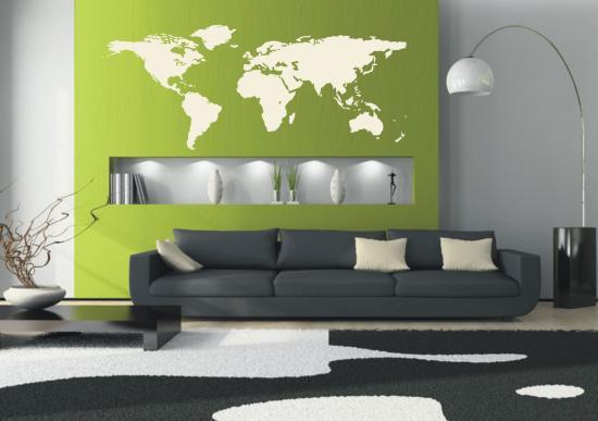 8e6216814b39 A sivárnak is mondható falakat képek, szabadon álló polcok felszerelésével,  vagy egyéb dekorációs elemekkel pl. a falra ragasztható figurális ...