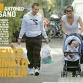 Cassano kisfiával bohóckodott